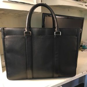 Black leather Coach business bag/laptop bag